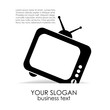 Vector television poster