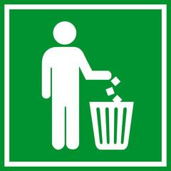 No littering green sign