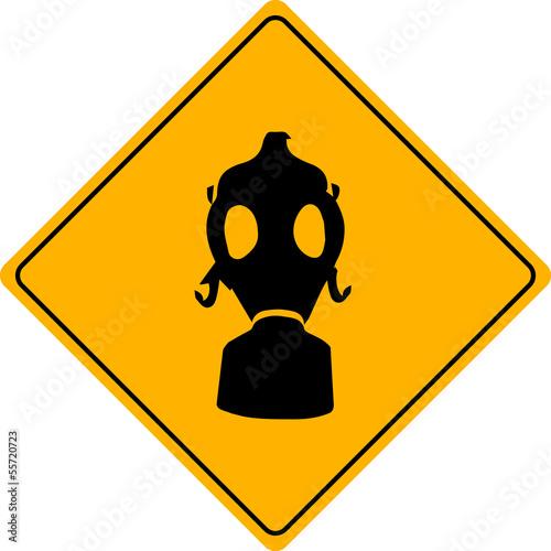 fototapete warnschild toxisch radioaktiv giftgas gas schutz warnung. Black Bedroom Furniture Sets. Home Design Ideas
