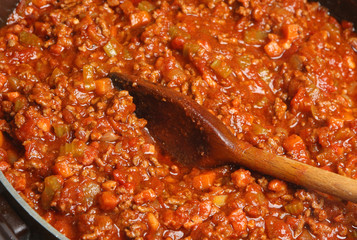 Cooking Bolognese Sauce