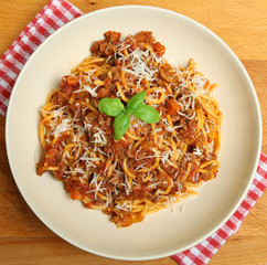 Spaghetti Bolognaise with Parmesan Cheese