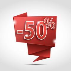 bulle origami : 50 %