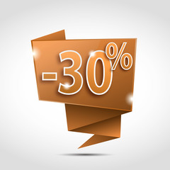 bulle origami : 30 %