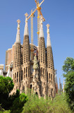 Sagrada Familia -  cathedral designed by Gaudi.Barcelona.