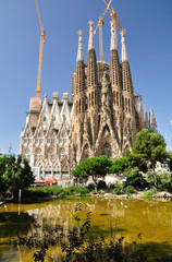 Sagrada Familia -  cathedral designed by Gaudi  Barcelona