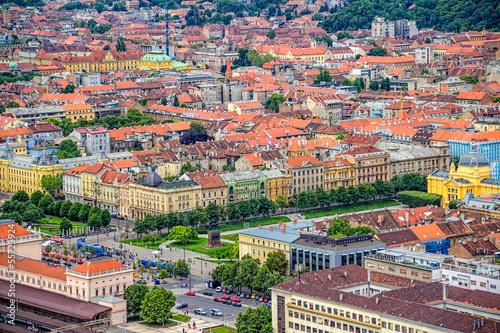 King Tomislav square in Zagreb. Croatia