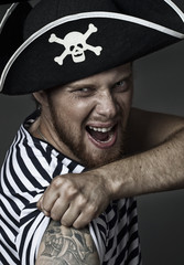 pirate shouting