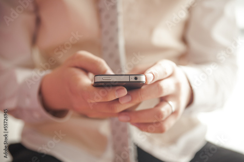 Playing mobile phone