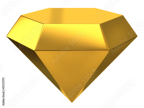 Gold diamond icon