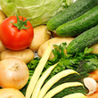collection vegetables background