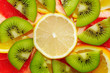 fresh fruits background