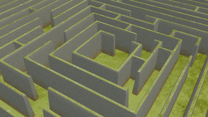 Green Maze from above
