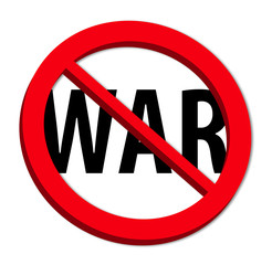 "Say ""no"" to the war!"