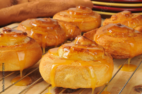 Fresh baked Orange Cinnamon Rolls