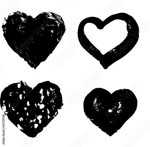 heart silhouette vector illustration