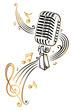 Musik, Musiknoten, Notenschlüssel, micro, gold