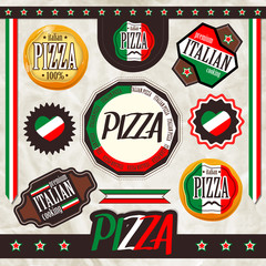 Набор знаков,  пицца