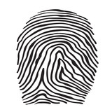 Abstract icon fingerprints silhouette isolated