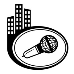 Microphone vector map pointer isolated