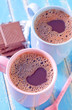cocoa drink and chocolate