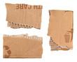 Morceaux de carton ondulé
