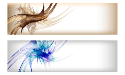 two colored vector abstract banner
