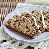 Traditional German christmas fruitcake Stollen