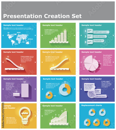 Vector presentation elements