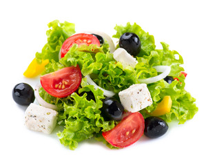 Greek Salad with Feta Cheese, Tomatoes and Olives