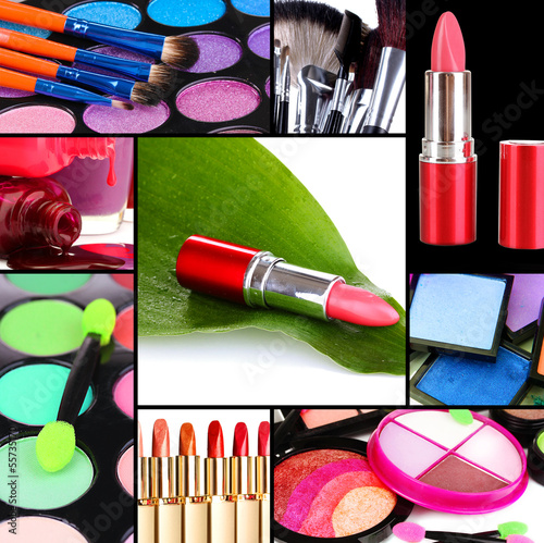 Collage of cosmetic