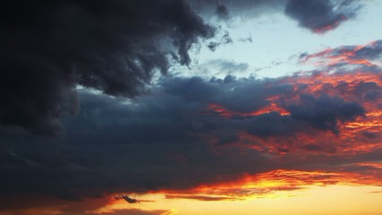 Sky Dramatic sunset - time lapse