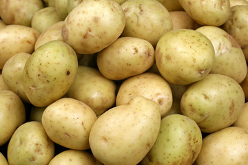 Yellow Potatoes Close Up
