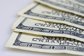 American Hundred Dollar Bills Close Up