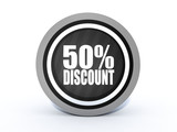 discount round icon on white background