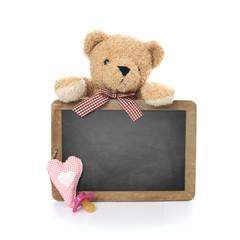 Teddybär mit Tafel