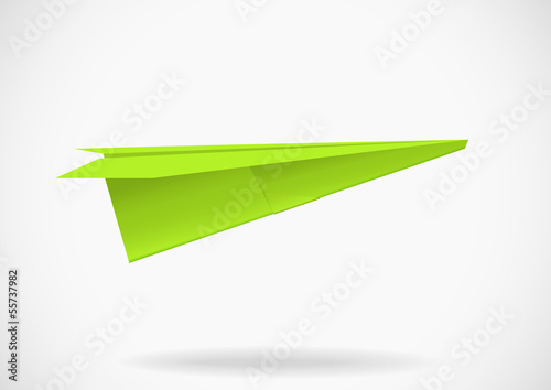 Colorful paper airplane