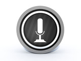 microphone round icon on white background