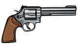 vector cartoon revolver