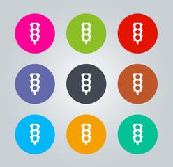 Traffic light - Metro clear circular Icons
