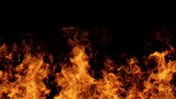 Detailed fire background (seamless loop, full Hd ,slow motion)