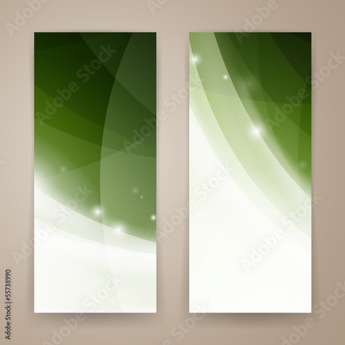 Vector Illustration of Two Abstract Banners