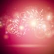 Vector Illustration of Colorful Fireworks