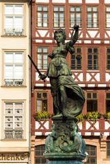 Justice statue Frankfurt