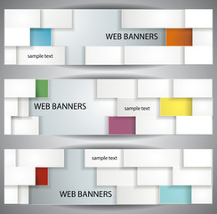 abstract rectangles banners