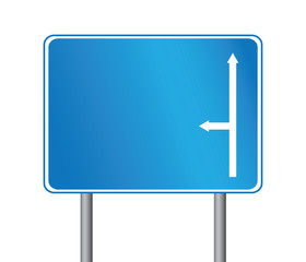Road direction sign