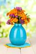 Bouquet of marigold flowers in vase