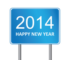 2014 New Year Traffic Sign