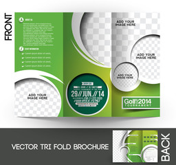 Tri-Fold Golf Tournament  Brochure Design