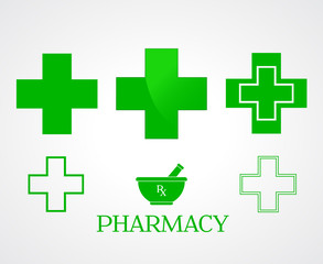 Pharmacy symbols - vector