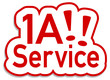 1A Service Sticker rot  #130901-svg05